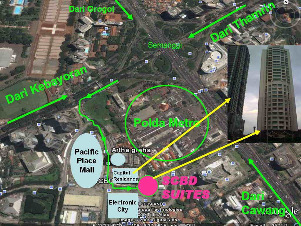 SCBD SUITES site map